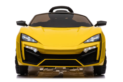 RICCO® 12V 7A Lambo Style Battery Powered Kids Electric Ride On Toy Car (Model: QR5188) (Yellow)