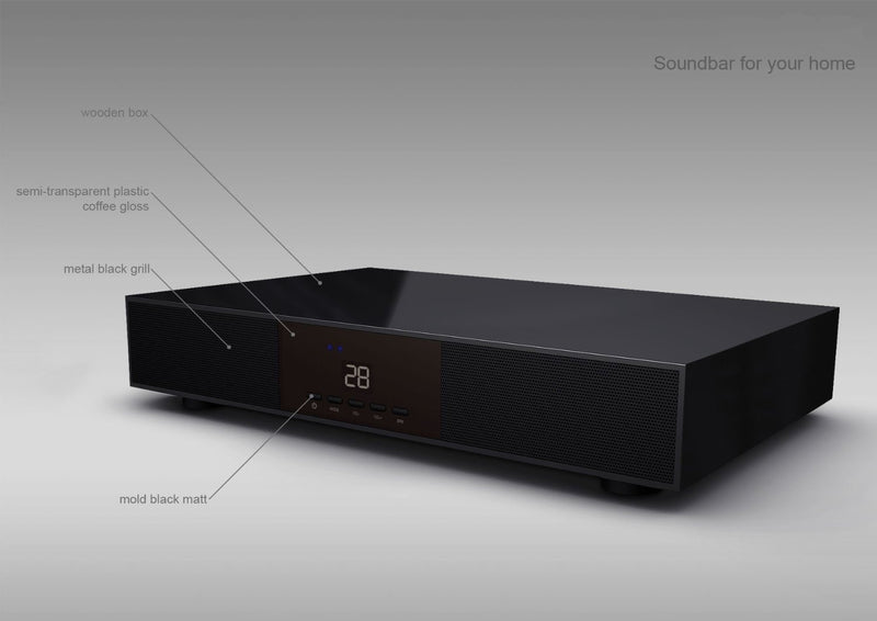 T2122 450W 2.1 Channel Bluetooth Soundbase Soundbar with Built-In Subwoofer Music System
