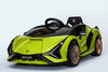 RICCO® 12V Lamborghini SIAN Licensed Battery Powered Kids Electric Ride On Toy Car (Model: QR6388) (Green)