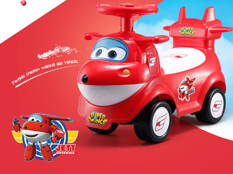 Superwings JETT Kids Ride on Air Plane Car with Music Function FD6815