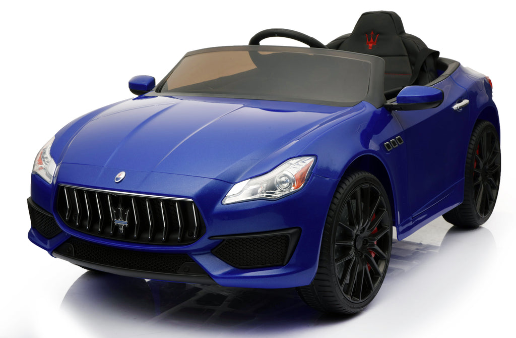 12V 7A Maserati Quattroporte Licenced Battery Powered Kids Electric Ride On Toy Car ZLG8588 BLUE