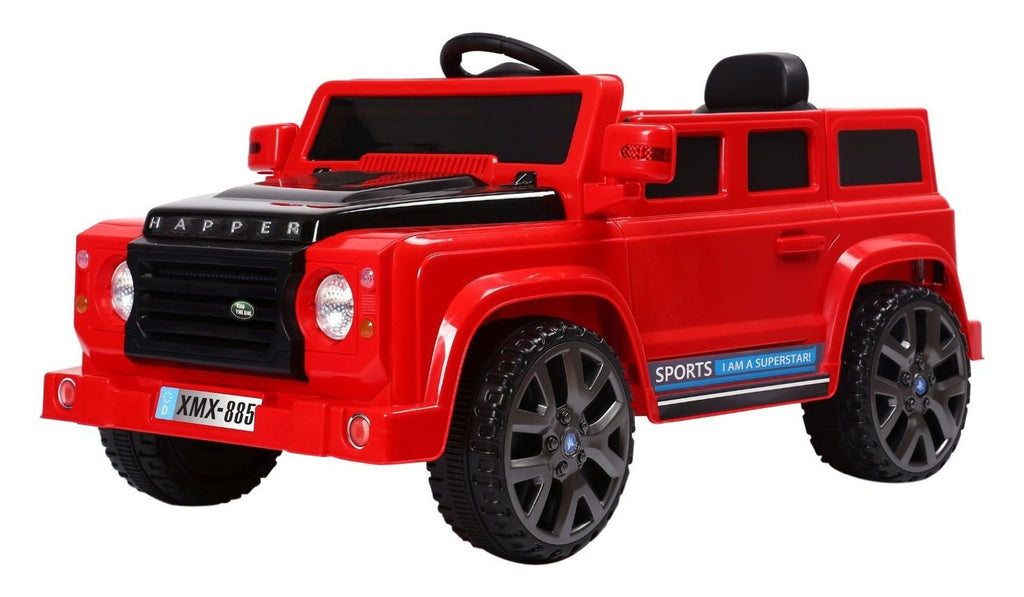 6V 50W Battery Powered Land Rover Style Twin Motor Electric Ride On Toy Car (Model: XMX885 ) RED