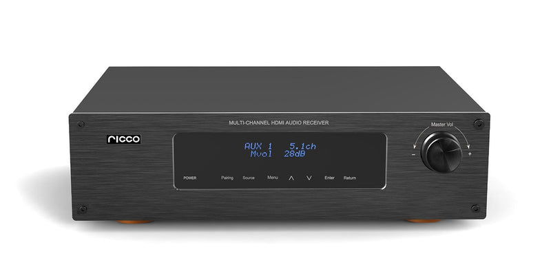 HDAV620 300 W 5.1 Channel RMS Digital 4 Port HDMI Bluetooth AV Amplifier and Receiver with Echo Remote Control
