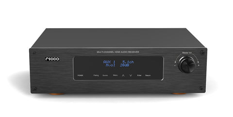 HDAV630 300 W 5.1 Channel RMS Aluminum Panel Digital 4 Port HDMI Bluetooth AV Amplifier and Receiver with Echo Remote Control