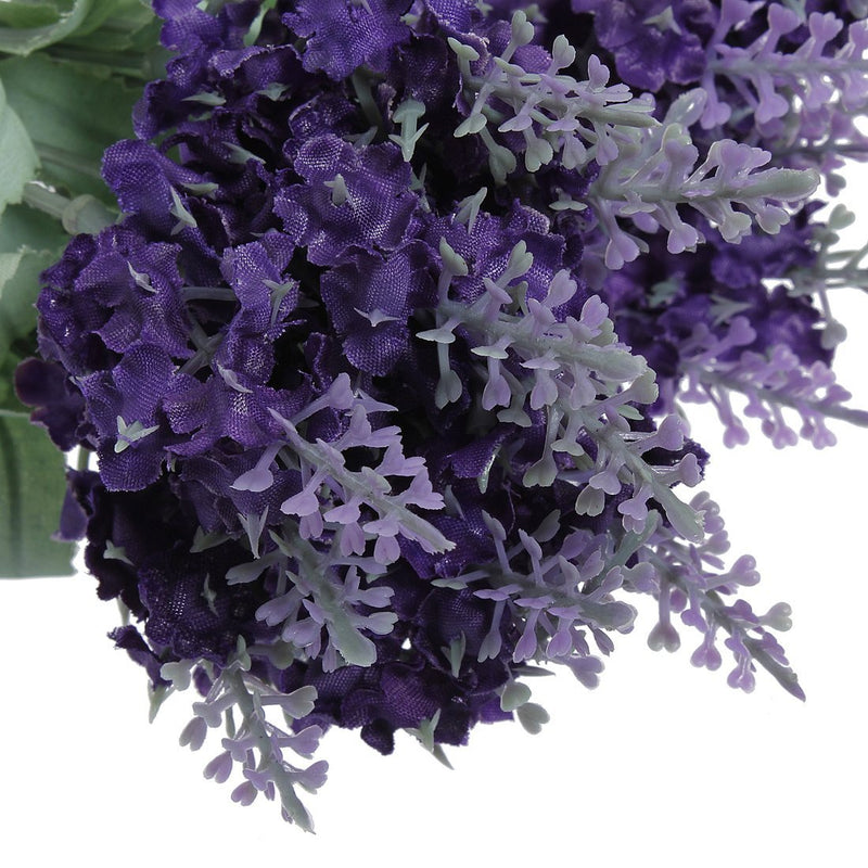RICCO Artificial Lavender Silk Flowers Violet Bouquet Home Garden Decoration