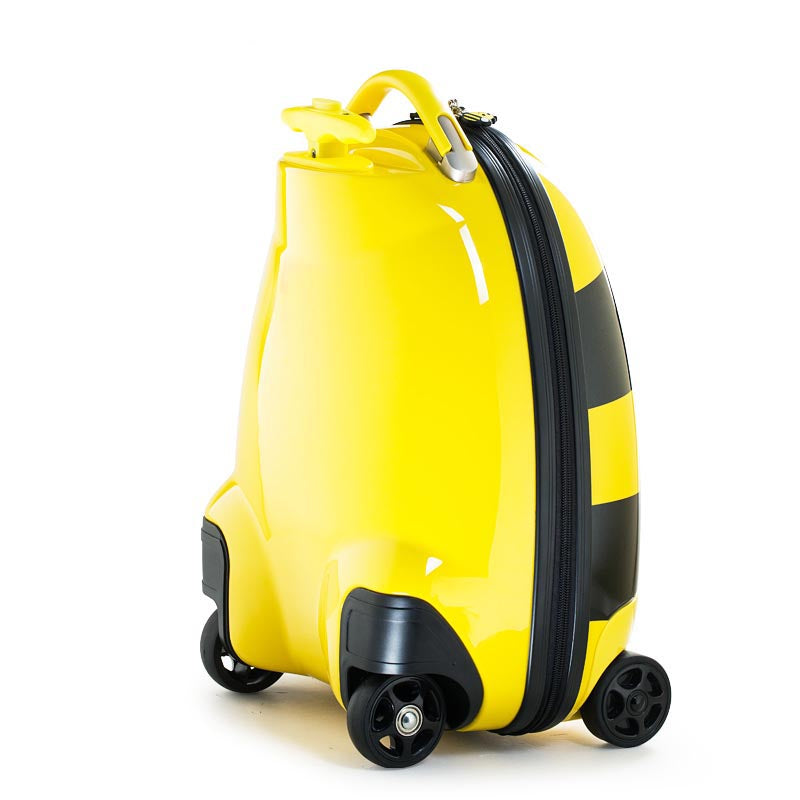 Kids Battery Powered Remote Control Walking Suitcase Cabin Hand Luggage (BEE) RST1601