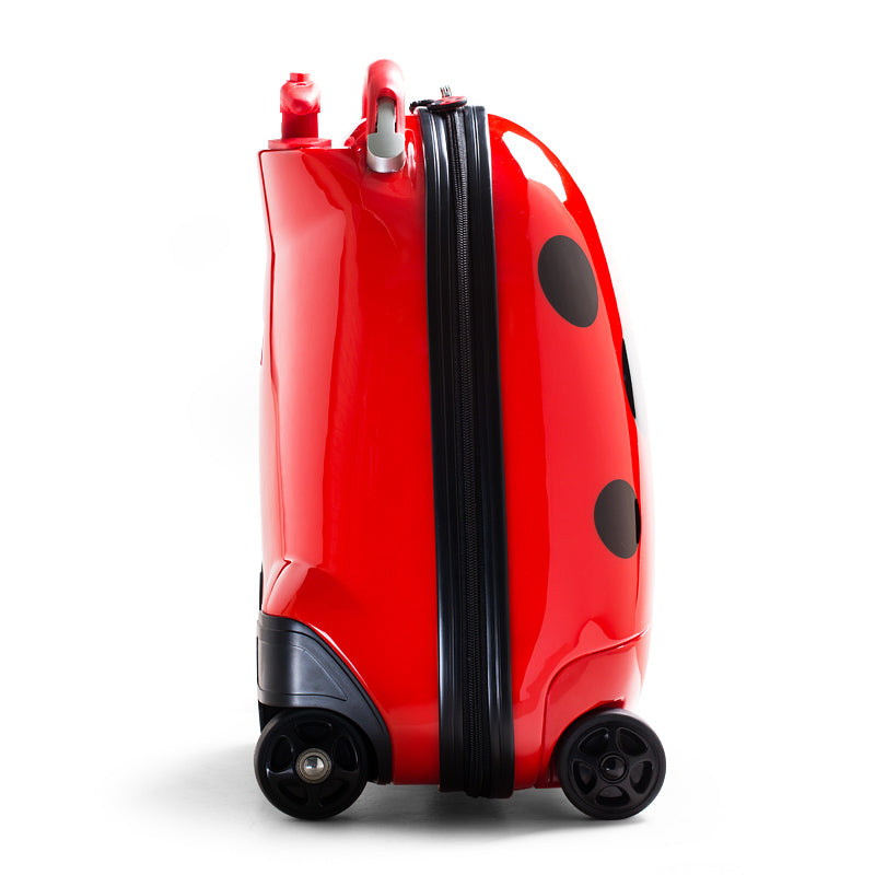 Kids Battery Powered Remote Control Walking Suitcase Cabin Hand Luggage (LADYBUG) RST1603