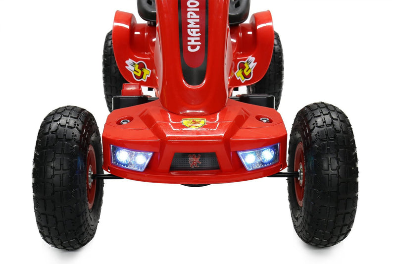 6V 7A Battery Powered Electric Go Kart Rubber Air Wheels (Model: S1588) RED
