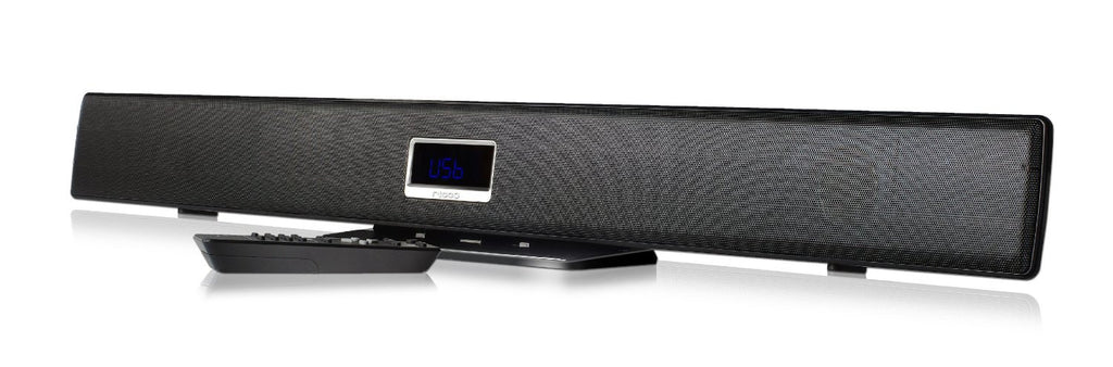 T2110 350W PMPO 35W RMS Bluetooth Soundbar 2.1 Channel Speaker USB FM AUX with Remote Control for LED LCD TV DVD CD MP3 Player Smart Phones Tablets Samsung Galaxy iPhone iPad Music System