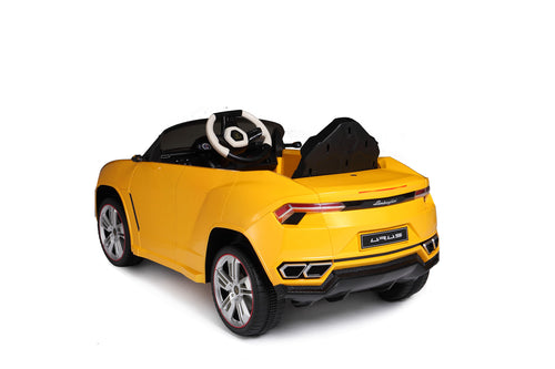 RASTAR 12V Lamborghini Urus Licensed Battery Powered Electric Ride on Car Leather Seat (Yellow)