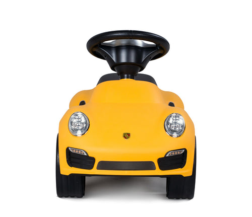 RASTAR Porsche 911 Turbo S Kids Foot to Floor Push Along Ride On Sliding Toy Car (Model: RS83400) (Yellow)