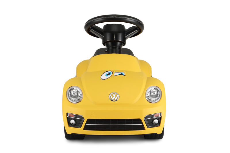 Volkswagen Beetle Kids Foot to Floor Push Along Ride On Sliding Toy Car (Model: RS85700) (Yellow)