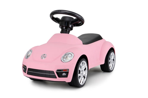 Volkswagen Beetle Kids Foot to Floor Push Along Ride On Sliding Toy Car (Model: RS85700) (Pink)