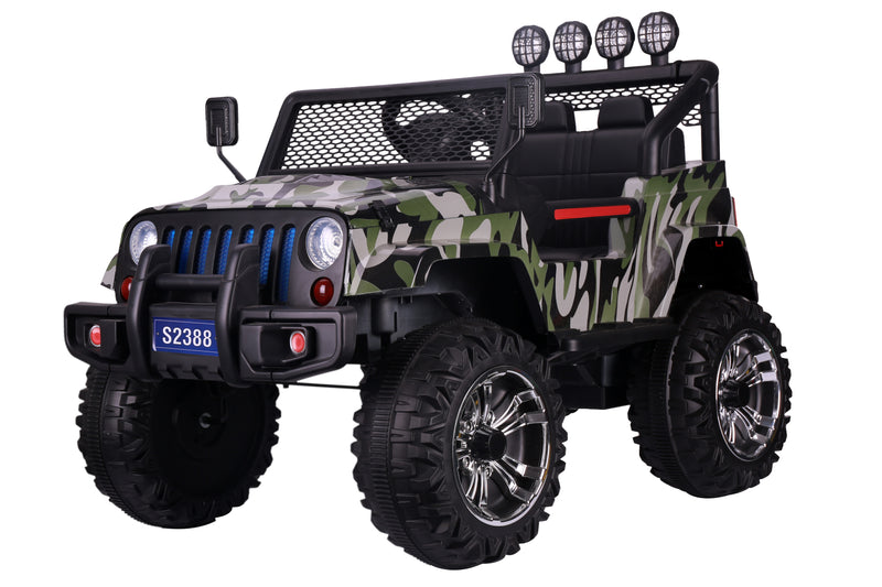 S2388 4x4 Kids Electric Ride On Car with Remote Control LED Lights and Music CAMOUFLAGE