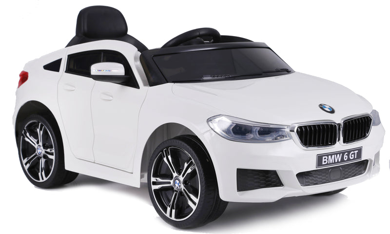 BMW 6 GT Lisenced TWO MOTORS Battery Powered Kids Electric Ride On Toy Car (Model: JJ2164) WHITE