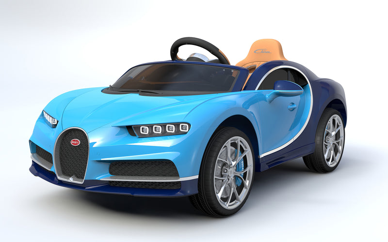 RICCO® Bugatti Chiron Licensed 12V 7A Battery Powered Kids Electric Ride On Toy Car