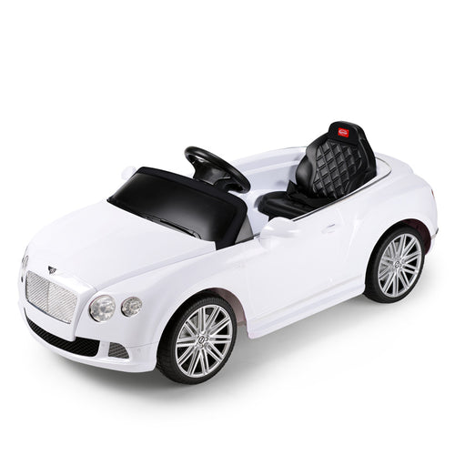 RASTAR RS82100 BENTLEY WHITE Bentley GTC 12V Electric Ride On Car with Remote Control (White)