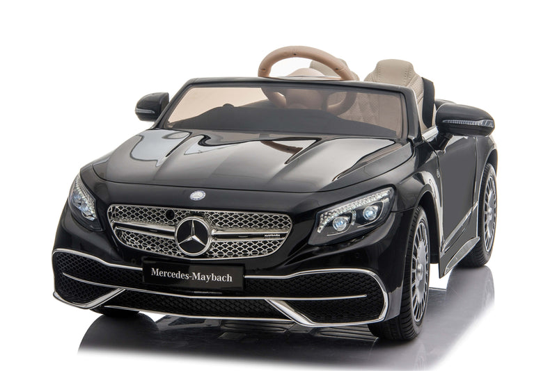 Premium 12V 7A Mercedes Benz Maybach S650 Cabriolet Licensed Battery Powered Electric Ride On Toy Car EVA WHEELS LEATHER SEATS BLUETOOTH MP3 RADIO