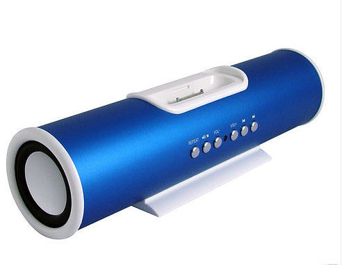 V6 Aluminium Portable TUBE 30-PIN Docking Station Charger Speaker
