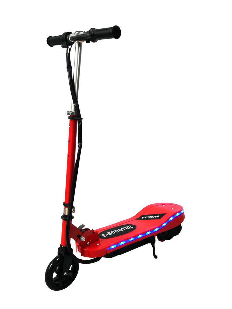 RICCO Kids 24V Electric Scooter e-Scooter Ride On with LED Flashing Lights (Model:CD05) RED