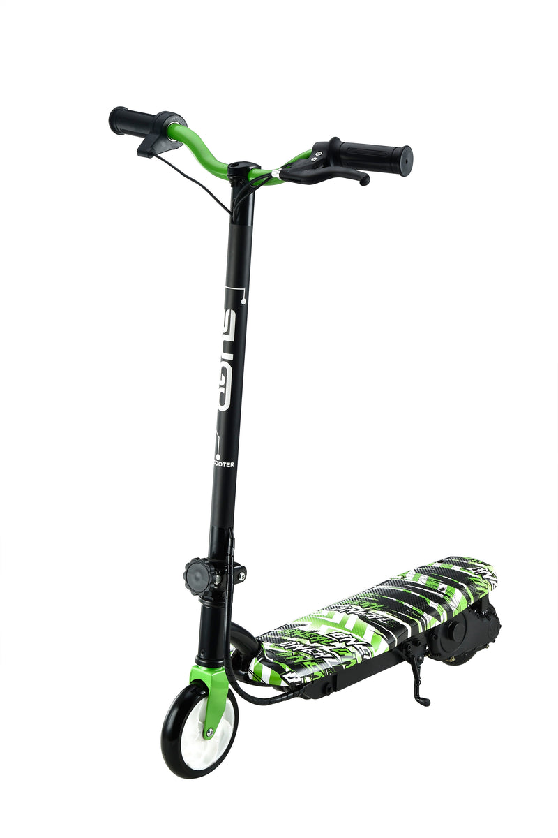 RICCO Kids 24V Electric Scooter e-Scooter Ride On WITH DETACHABLE SEAT (Model:CD11S) GREEN  WATER TRANSFER PRINTED