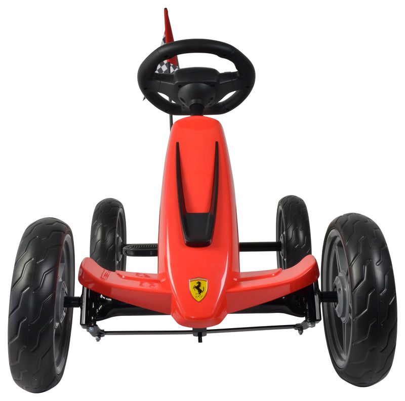 Ferrari Licensed Kids Go Kart with Foot Pedal EVA Wheels Brake Lever Clutch Gear C8931 (YELLOW)