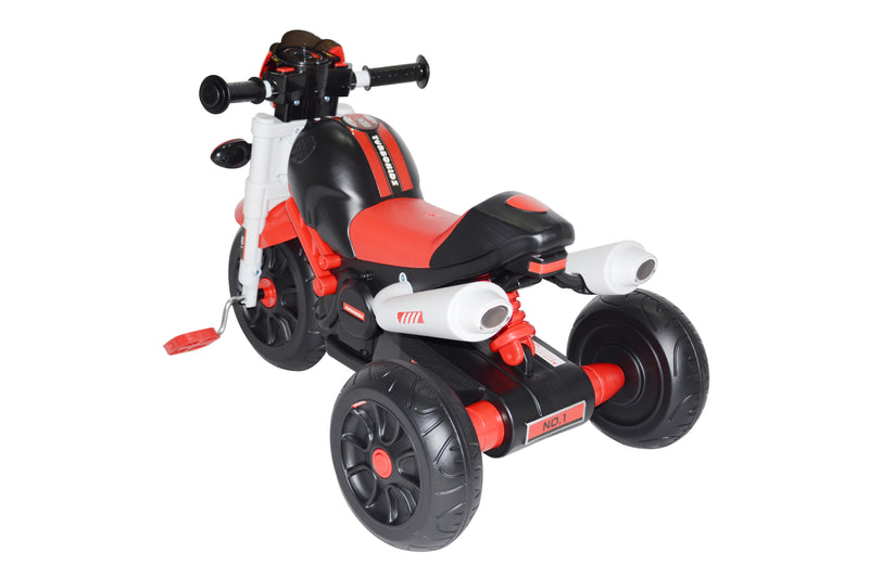 Kids Motor Bike Designed Manual Pedal Ride On Push Along Tricycle Trike with Light and Music XG6333