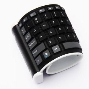 Foldable Silicon Bluetooth Soft Keyboard for iPad iPhone Mobile Phone BTK2