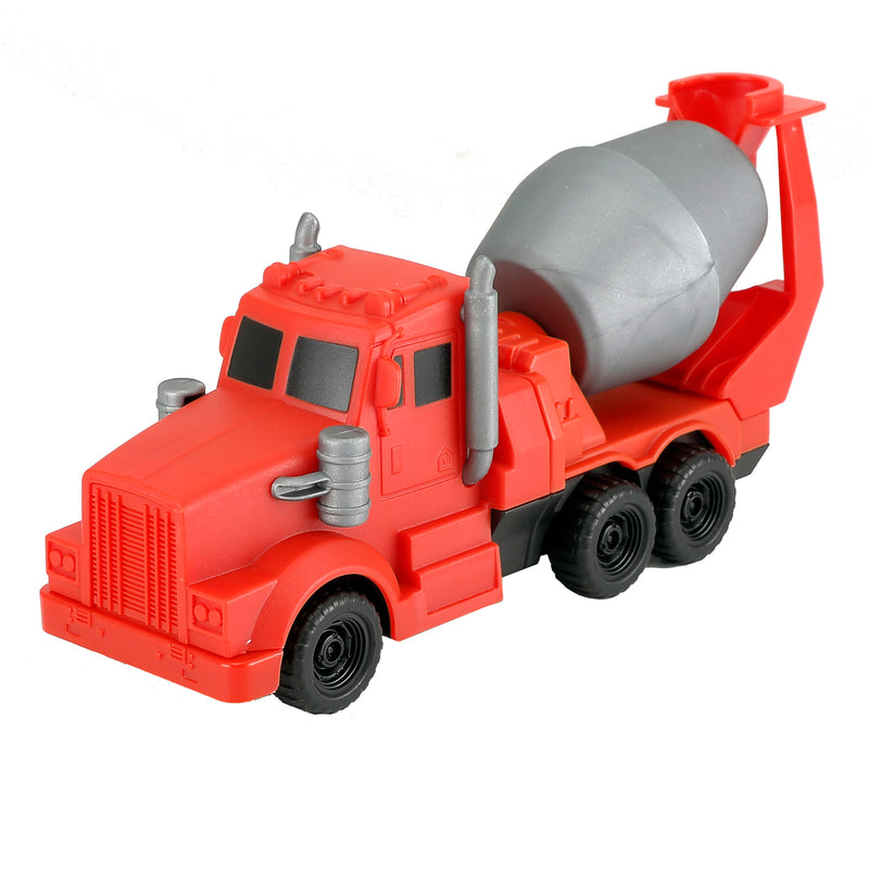 6-in-1 Combo  Magnetic Construction Vehicles Pull Back Car Toy Building Blocks (RS77800)
