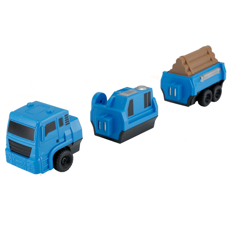 RASTAR 6-in-1 Combo Magnetic Construction Vehicles Pull Back Car Toy Building Blocks - RS77800