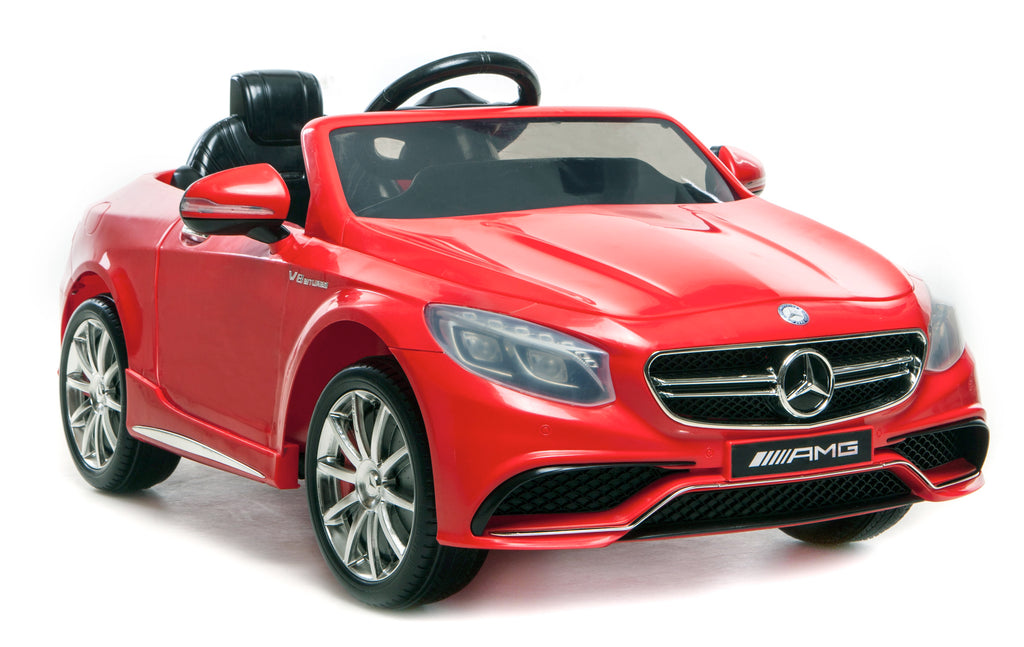 6V 7Ah Battery Twin 15W Motors Powered Mercedes-Benz 63 AMG Licensed Twin Motor Electric Ride On Toy Car (Model: HL169) RED
