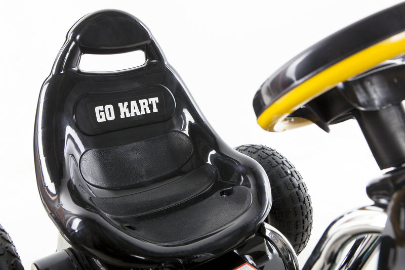 Go Kart with Foot Pedal Rubber Air Wheels Gear Brake Lever (Model: 9788A) BLACK