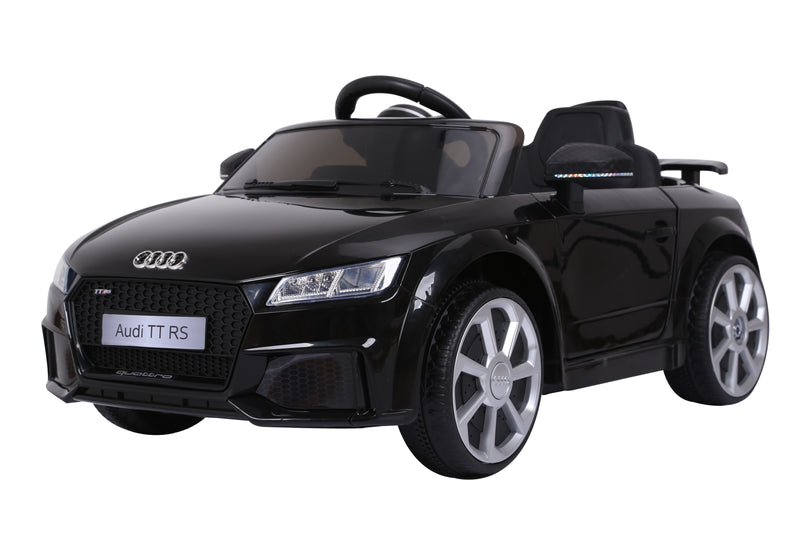 RICCO® AUDI TT RS Lisenced Battery Powered Kids Electric Ride On Toy Car (Model: JE1198) BLACK