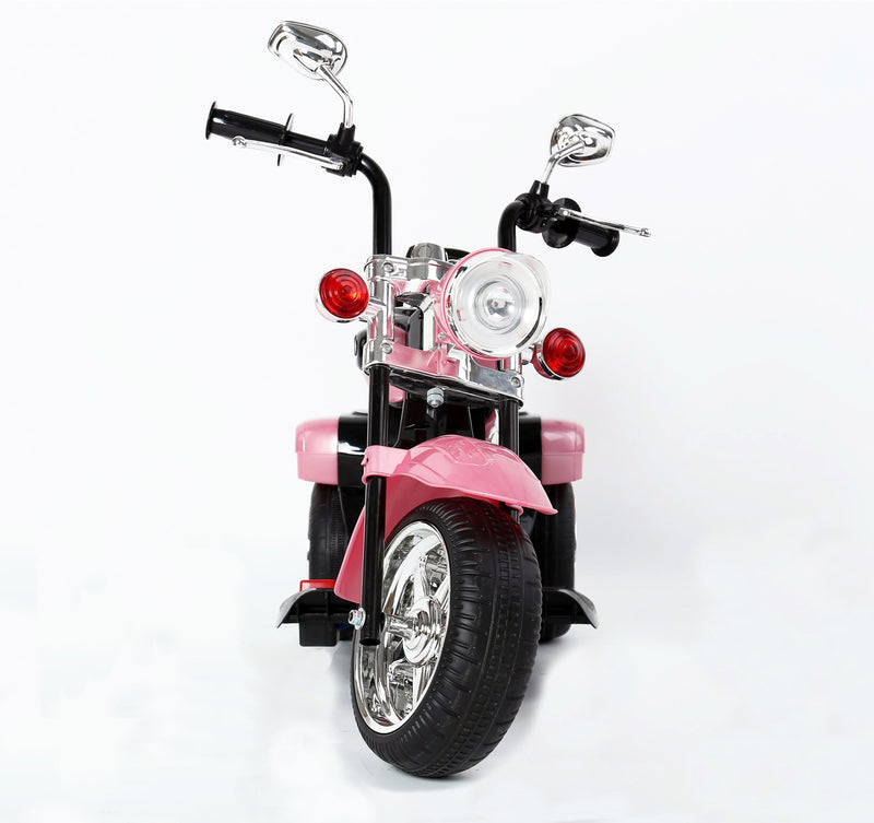 Kids 3 Wheel Chopper 6V 4.5Ah Battery Powered Harley Style Electric Motor Trike (Model: TR1501 ) PINK
