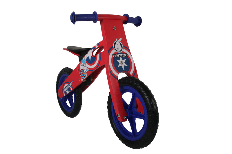 "RICCO® Wooden Balance Bike Red with 12"" EVA Wheels (Model: WB16) RED"