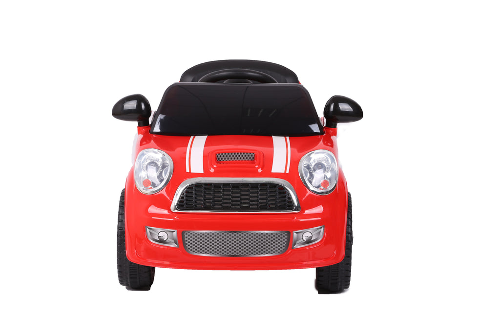 Kids Battery Powered Electric Ride On MINI Style Toy Car with Parental Remote Control (Model: S6088) (RED)