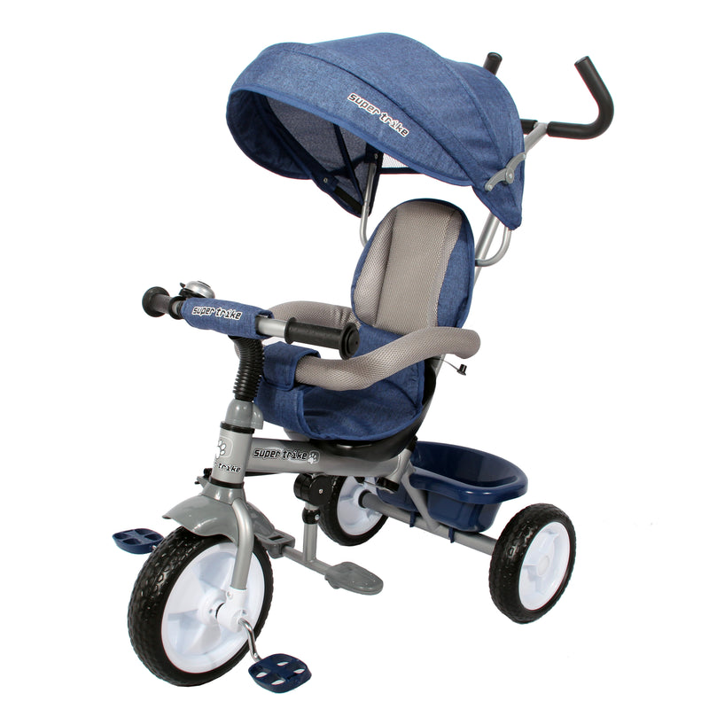 RICCO® Kids Easy Steer Pedal Tricycle Buggy Stroller with Oxford Cloth - XG18859 (6 colours)