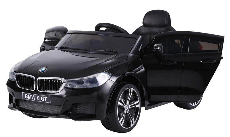 RICCO® Lisenced BMW 6 GT TWO MOTORS Battery Powered Kids Electric Ride On Toy Car (Model: JJ2164) BLACK