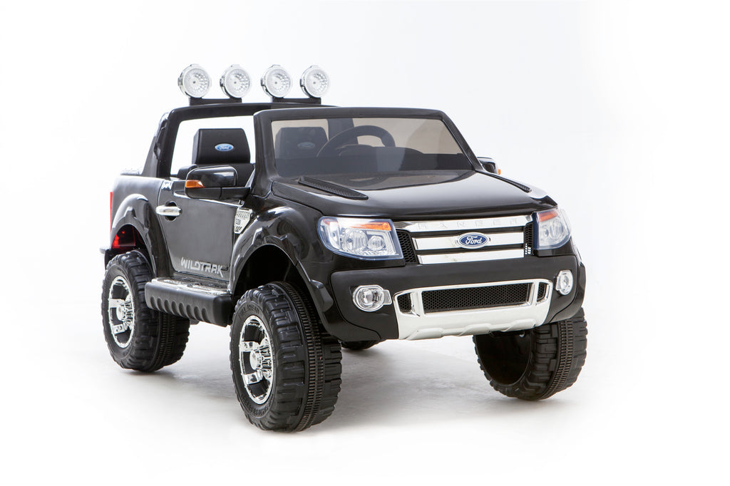 Licensed FORD RANGER 4x4 Kids Electric Ride On Car with Remote Control LED Lights and Music DK-F150 BLACK