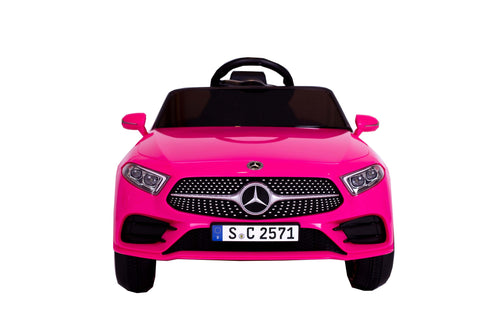 RICCO® 12V 4A Two Motors Mercedes Benz CLS350 Licensed Battery Powered Kids Electric Ride On Toy Car (Pink)