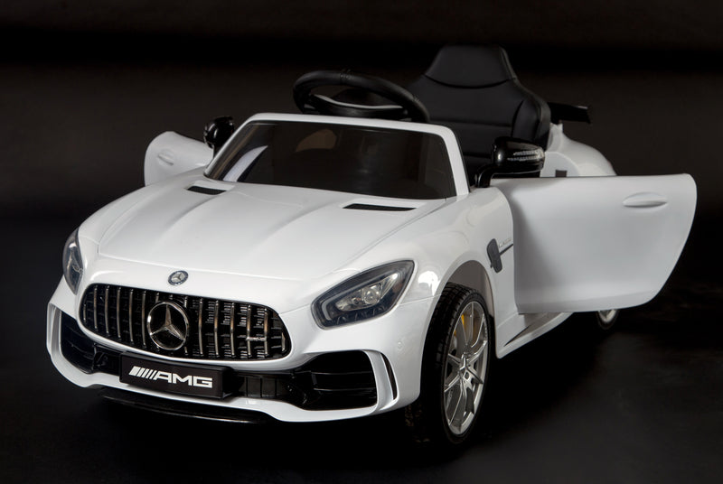 6V 4.5A Two Motors Mercedes Benz GTR AMG Licenced Battery Powered Kids Electric Ride On Toy Car HL288 WHITE
