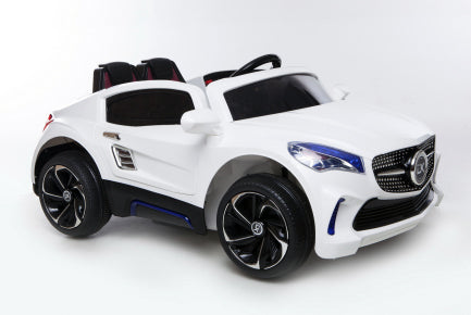 12V Battery Powered Kids Electric Ride On Toy Car (Model: F007) WHITE
