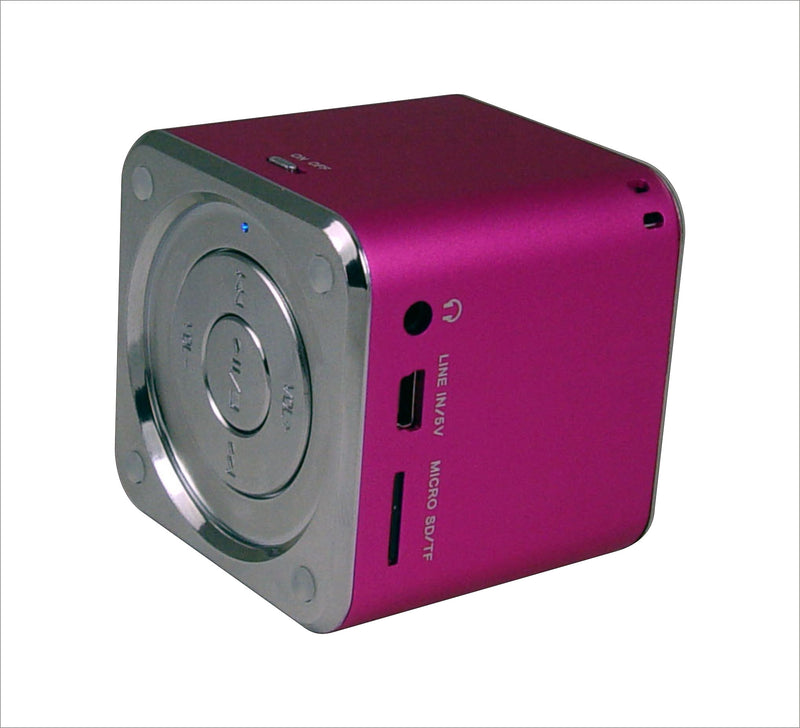 Ricco MD6 CUBE Aluminium Portable Travel Speaker MP3 Player AUX Line-in Laptop