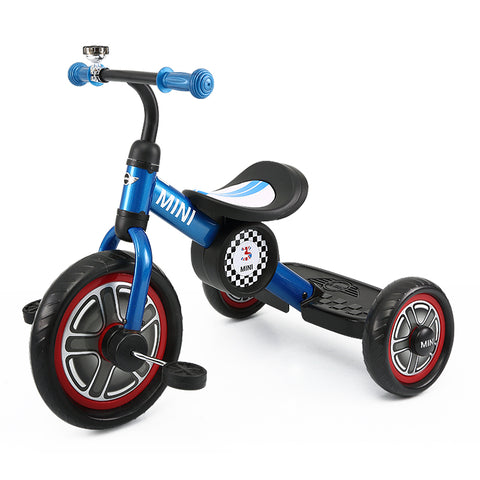 "BLUE RSZ3002 Genuine BMW Mini Official Licensed 10"" Mini Cooper Tricycle Trike"