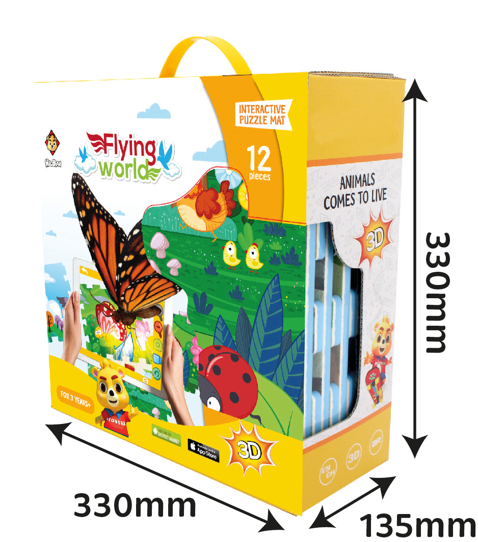 3D Interactive AR Popup EVA Puzzle Mat- SNB003 FLYING WORLD