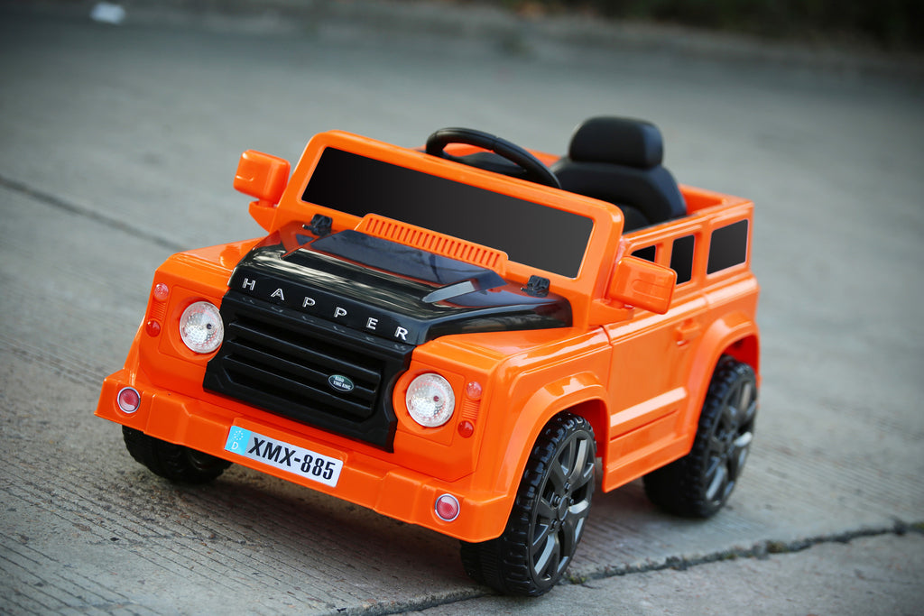 6V 50W Battery Powered Land Rover Style Twin Motor Electric Ride On Toy Car (Model: XMX885 ) ORANGE