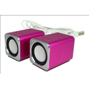 RICCO® MD2 Mini 2.0 CHANNEL Aluminium USB DSP Travel Speaker For Laptop Mac