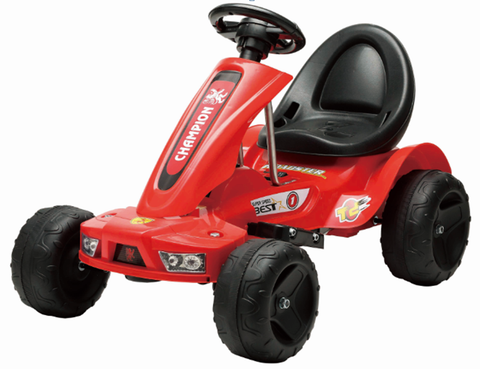 6V 12W Battery Powered Electric Go Kart Rubber Air Wheels (Model: S1788) RED