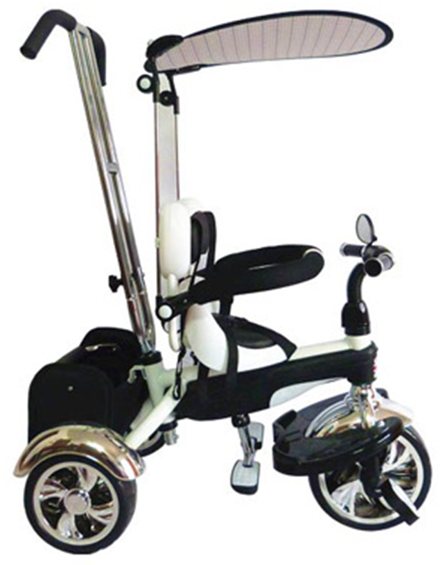 Easy Steer Stroller Trike With Pedal (Model:GR01) BLACK