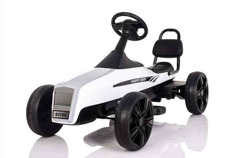 Large 5-12 Year Old Kids Outdoor Go Kart with Foot Pedal and Brake Lever (Model: K01)